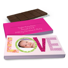 Deluxe Personalized Love Chocolate Bar in Gift Box (3oz Bar)