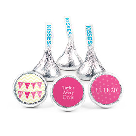 Personalized Girl Birth Announcement It's a Girl Banner Hershey's Kisses (50 pack)