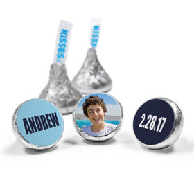 """Bar Mitzvah Personalized Boldly Blue 3/4"""" Stickers (108 Stickers)"""