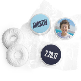 Bar Mitzvah Personalized Boldly Blue Life Savers Mints