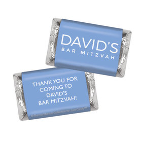 Bar Mitzvah Personalized Solid Blue Hershey's Miniatures