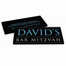 Deluxe Personalized Classic Bar Mitzvah Chocolate Bar in Gift Box