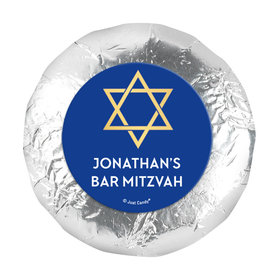 """Personalized Bonnie Marcus Bar Mitzvah Traditional Star 1.25"""" Sticker (48 Stickers)"""