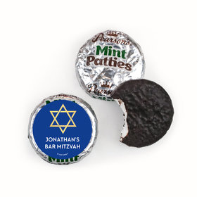 Personalized Bonnie Marcus Bar Mitzvah Traditional Star Pearson's Mint Patties