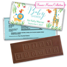 Safari Snuggles Personalized Embossed Chocolate Bar Assembled