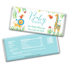Safari Snuggles Personalized Candy Bar - Wrapper Only