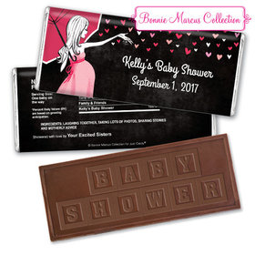 Sprinkling Pink Personalized Embossed Chocolate Bar Assembled