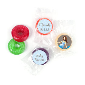 Baby Bow Personalized Baby Shower LifeSavers 5 Flavor Hard Candy Assembled