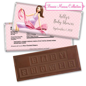 Baby Bow Personalized Embossed Chocolate Bar Assembled