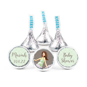 Baby Bow Baby Shower Personalized Stickers