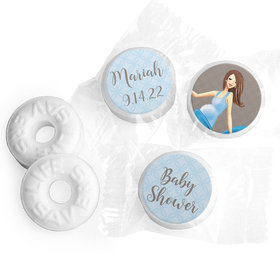 Baby Bow Personalized Baby Shower LIFE SAVERS Mints Assembled