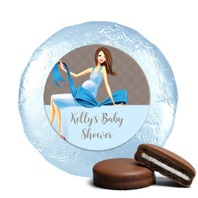Baby Bow Milk Chocolate Covered Oreo Cookies Assembled