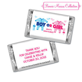Personalized Bonnie Marcus Onesies Gender Reveal Hershey's Miniatures