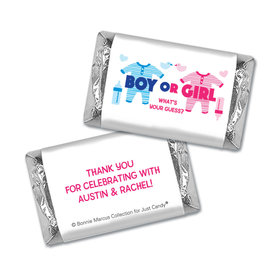 Personalized Bonnie Marcus Onesies Gender Reveal Mini Wrappers Only