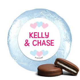 Personalized Bonnie Marcus Onesies Gender Reveal Chocolate Covered Oreos (24 Pack)