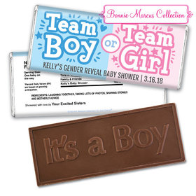 Personalized Bonnie Marcus Boy or Girl Gender Reveal Embossed It's a Boy Chocolate Bar