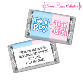Personalized Bonnie Marcus Boy or Girl Gender Reveal Hershey's Miniatures