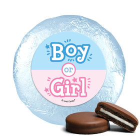 Personalized Bonnie Marcus Boy or Girl Gender Reveal Chocolate Covered Oreos (24 Pack)