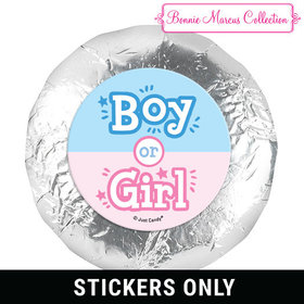 "Personalized Bonnie Marcus Boy or Girl Gender Reveal 1.25"" Stickers (48 Stickers)"
