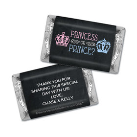 Personalized Bonnie Marcus Princess or Prince Gender Reveal Hershey's Miniatures