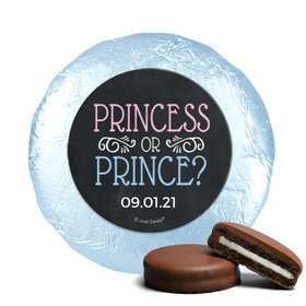 Personalized Bonnie Marcus Princess or Prince Gender Reveal Chocolate Covered Oreos (24 Pack)