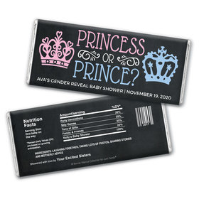 Personalized Bonnie Marcus Princess or Prince Gender Reveal Chocolate Bar Wrappers Only