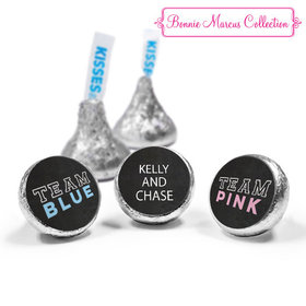 Personalized Bonnie Marcus Team Pink vs. Team Blue Gender Reveal Hershey's Kisses (50 Pack)