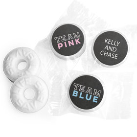 Personalized Bonnie Marcus Team Pink vs. Team Blue Gender Reveal Life Savers Mints