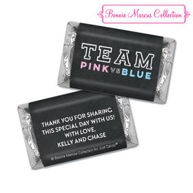 Personalized Bonnie Marcus Team Pink vs. Team Blue Gender Reveal Hershey's Miniatures
