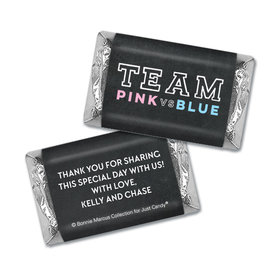 Personalized Bonnie Marcus Team Pink vs. Team Blue Gender Reveal Mini Wrappers Only