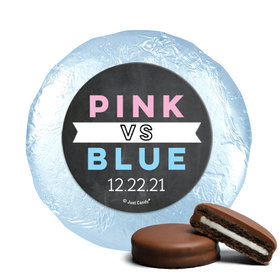 Personalized Bonnie Marcus Team Pink vs. Team Blue Gender Reveal Chocolate Covered Oreos (24 Pack)