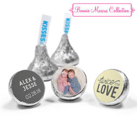 Personalized Bonnie Marcus Twice the Love Birth Announcement Hershey's Kisses (50 Pack)