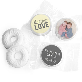 Personalized Bonnie Marcus Twice the Love Birth Announcement Life Savers Mints