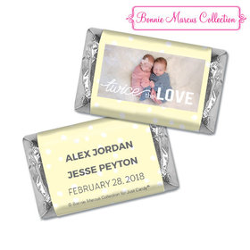 Personalized Bonnie Marcus Twice the Love Birth Announcement Hershey's Miniatures