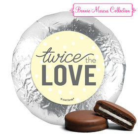 Personalized Bonnie Marcus Twice the Love Birth Announcement Chocolate Covered Oreos