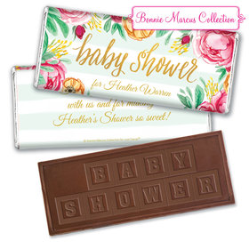 Personalized Bonnie Marcus Embossed Chocolate Bar & Wrapper - Baby Shower Stripes