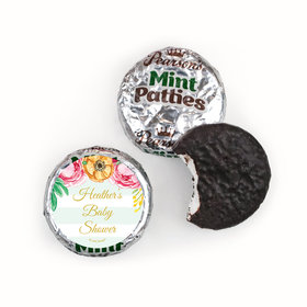 Personalized Pearson's Mint Patties - Bonnie Marcus Baby Shower Stripes
