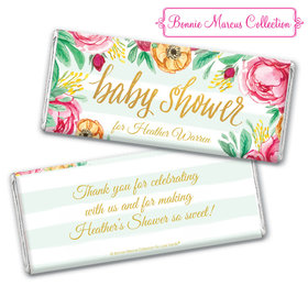 Personalized Bonnie Marcus Chocolate Bar & Wrapper - Baby Shower Stripes