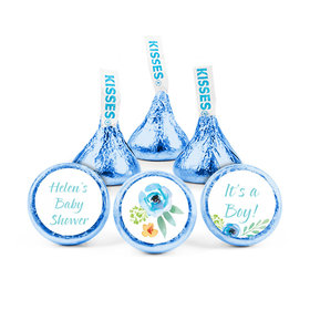 Personalized Bonnie Marcus Baby Shower Watercolor Blossom Hershey's Kisses (50 pack)