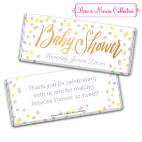 Personalized Bonnie Marcus Baby Shower Confetti Fun Chocolate Bar