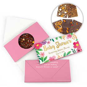 Personalized Bonnie Marcus Baby Shower Fun Floral Gourmet Infused Belgian Chocolate Bars (3.5oz)