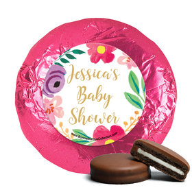 Personalized Bonnie Marcus Fun Floral Baby Shower Milk Chocolate Covered Oreos