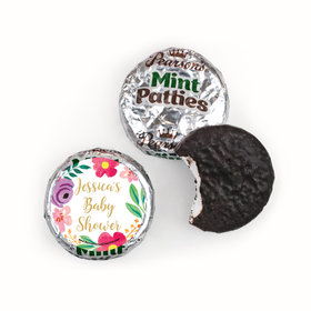 Personalized Bonnie Marcus Fun Floral Baby Shower Pearson's Mint Patties