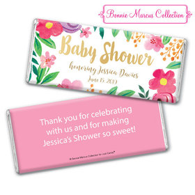 Personalized Bonnie Marcus Baby Shower Fun Floral Chocolate Bar