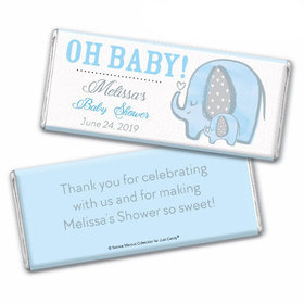 Personalized Bonnie Marcus Baby Shower Elephants Chocolate Bar