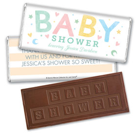 Personalized Bonnie Marcus Sweet Baby Shower Embossed Chocolate Bar & Wrapper