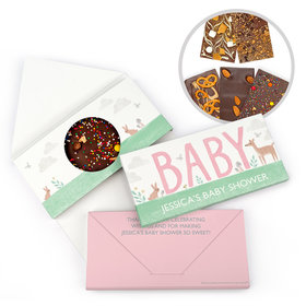 Personalized Bonnie Marcus Baby Shower Animals Gourmet Infused Belgian Chocolate Bars (3.5oz)