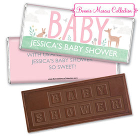 Personalized Bonnie Marcus Forest Fun Baby Shower Embossed Chocolate Bar & Wrapper