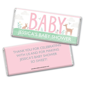 Personalized Bonnie Marcus Baby Shower Forest Fun Chocolate Bar