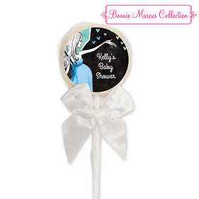Bonnie Marcus Collection Personalized Lollipop - Sprinkling Pink (24 Pack)